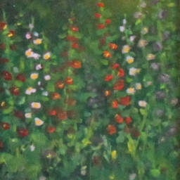 "Hollyhocks ● 4"" x 5"" ● Oil ● $175"