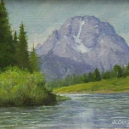 "Mt. Moran's Majesty ● 8"" x 10"" ● Oil ● $375"