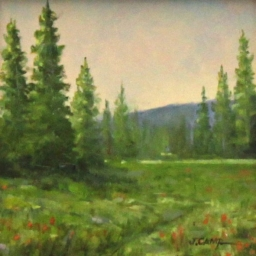 """Morning Meadow ● 6"""" x 6"""" ● Oil ● SOLD"""