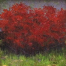 "The Red Bush ● 6"" x 6"" ● Oil ● SOLD"