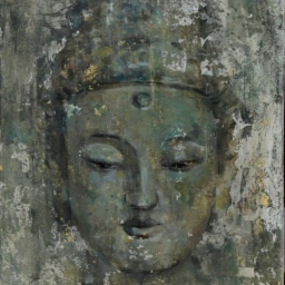 "Little Guanyin ● 12"" x 14"" ● Mixed Media ● SOLD"