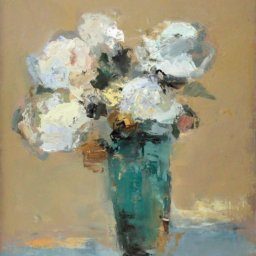 """Turquoise Floral ● 16"""" x 20"""" ● Oil ● $1250"""