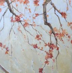 """Blossoms I ● 24"""" x 46"""" ● Mixed Media ● SOLD"""