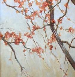 """Blossoms II ● 24"""" x 46"""" ● Mixed Media ● SOLD"""