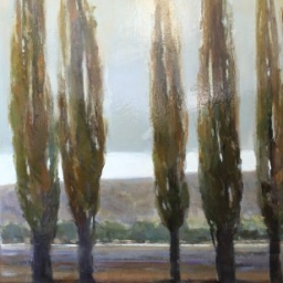 "Spear Trees I ● 30"" x 48"" ● Oil ● SOLD"