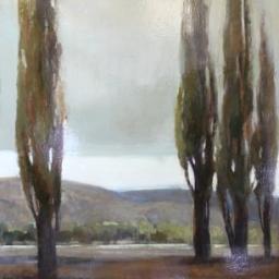 """Spear Trees II ● 30"""" x 48"""" ● Oil ● SOLD"""