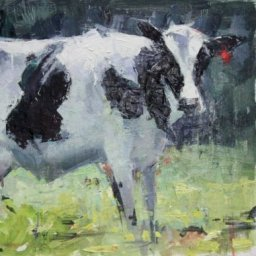 "White Cow ● 11 3/4"" x 18"" ● Oil ● SOLD"