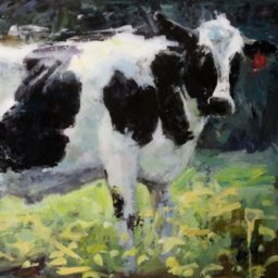 "White Cow ● 24"" x 36"" ● Oil ● $1200"