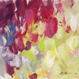 "Hyacinth Series 2021 #11  ● 6"" x 6"" ● Oil ● $195"