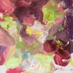 "Hyacinth Series 2021 #2  ● 5"" x 5"" ● Oil ● $195"