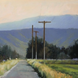 "Late Summer Afternoon, Midway Utah ● 16"" x 20"" ● Oil ● $1600"