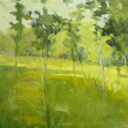 "Summer Trees ● 16"" x 16"" ● Oil ● $1200"