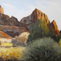 """Zion Peaks ● 11"""" x 14"""" ● Oil ● SOLD"""