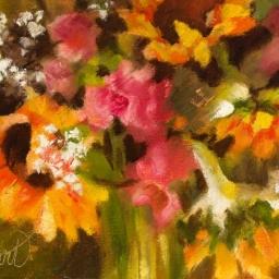 "Sunflowers II ● 6"" x 8"" ● Oil ● $300"