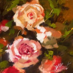 """From the Garden ● 8"""" x 8"""" ● Oil ● $400"""
