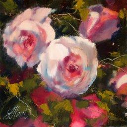 """In Full Bloom ● 8"""" x 8"""" ● Oil ● $400"""
