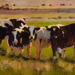 "Out to Pasture ● 8"" x 10"" ● Oil ● $400"