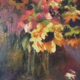 "Sunflowers ● 8"" x 10"" ● Oil ● $400"