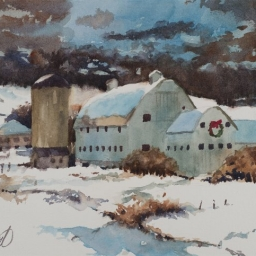 "Park City Barn ● 8"" x 10"" ● Watercolor ● SOLD"