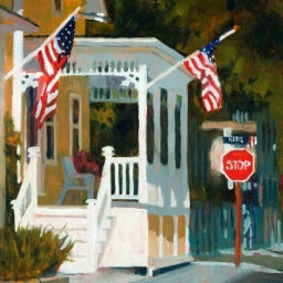 "Rhode Island Porch ● 11"" x 14"" ● Oil ● SOLD"