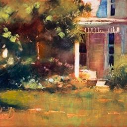 """Victorian Porch ● 8"""" x 10"""" ● Oil ● SOLD"""