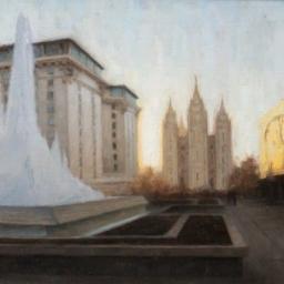 """Temple Square ● 12"""" x 16"""" ● Oil ● SOLD"""