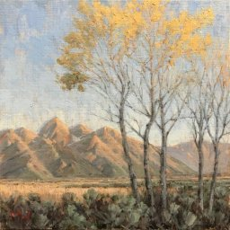 "Tetons and Aspens ● 12"" x 12"" ● Oil ● $975"