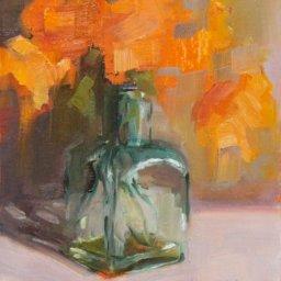 """Green Glass II ● 8"""" x 10"""" ● Oil ● $450"""