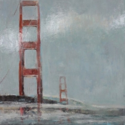 "Golden Gate Bridge ● 45"" x 57"" ● Oil ● $4800"