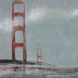 "Golden Gate Bridge ● 45"" x 57"" ● Oil ● SOLD"