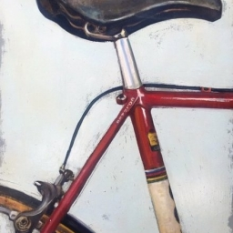 "Pedal with your Pinot ● 18"" x 24"" ● Oil ● SOLD"