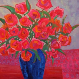 "Roses and Posies ● 36"" x 36"" ● Oil ● SOLD"