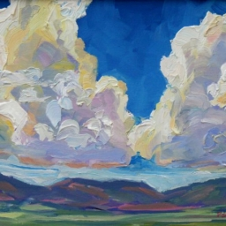 "Midway Clouds ● 11"" x 14"" ● Oil ● SOLD"