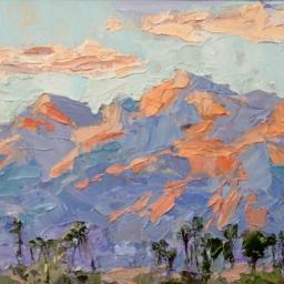 """Desert Landscape ● 8 1/2"""" x 11"""" ● Oil ● $400"""
