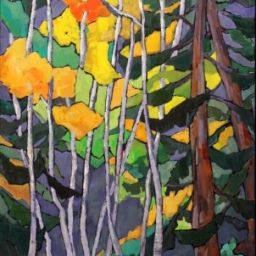 """Aspens and Evergreens ● 24"""" x 48"""" ● Oil ● SOLD"""