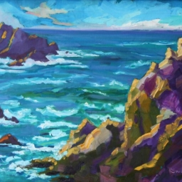"Point Lobos ● 16"" x 20"" ● Oil ● SOLD"