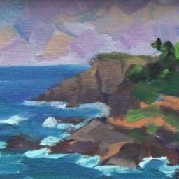 "Rocky Creek ● 4"" x 6"" ● Oil ● SOLD"