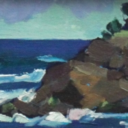 "Whale Cove Point ● 4"" x 6"" ● Oil ● $150"