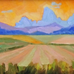"Teton Fields ● 6"" x 8"" ● Oil ● SOLD"