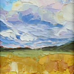 "Clouds and Fields ● 6"" x 8"" ● Oil ● SOLD"