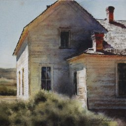 """Emma's in Shadow ● 8"""" x 8 1/2"""" ● Varnished Watercolor ● $550"""