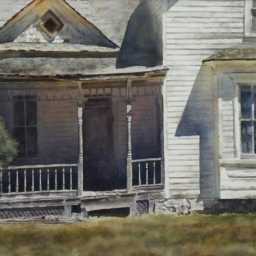"""St. Charles ● 20.5"""" x 27"""" ● Varnished Watercolor ● SOLD"""