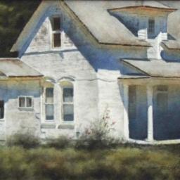 """Shadows at Noon ● 9"""" x 13"""" ● Varnished Watercolor ● SOLD"""
