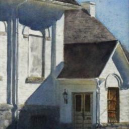 "Locked Doors ● 8"" x 11"" ● Varnished Watercolor ● SOLD"