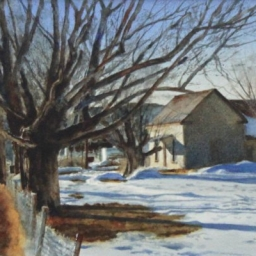 """Empty Mailbox ● 8.5"""" x 12.5"""" ● Varnished Watercolor ● SOLD"""