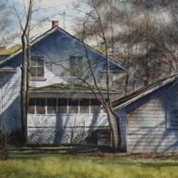 """Screen Porch ● 14"""" x 20"""" ● Varnished Watercolor ● $2800"""