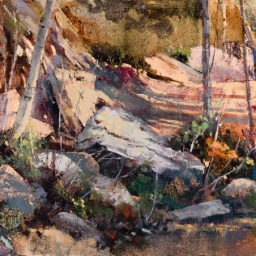"Rock Garden ● 12"" x 16""● Oil ● SOLD"