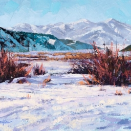 "Jordanelle Winter ● 9"" x 12"" ● Oil ● $600"