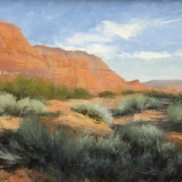"""Snow Canyon I ● 18"""" x 24"""" ● Oil ● SOLD"""