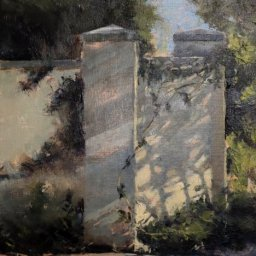 "Garden Wall ● 9"" x 12"" ● Oil ● SOLD"